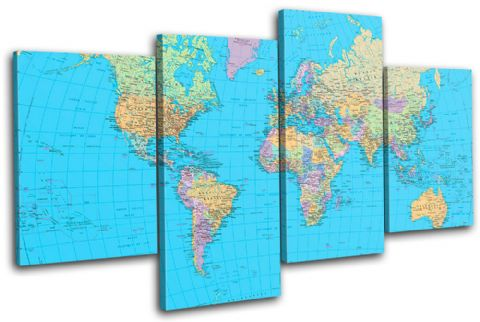 School World Atlas Maps Flags - 13-1781(00B)-MP04-LO